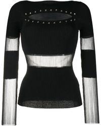 Patrizia Pepe シアーディテール セーター - ブラック