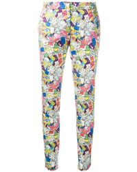 Ultrachic | Garbage Print Skinny Trousers | Lyst
