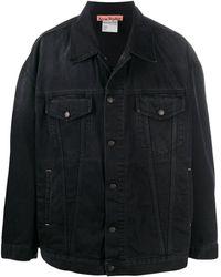 Acne Studios オーバーサイズ デニムジャケット - ブラック