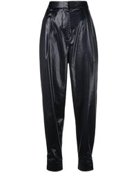Tibi Pantalones tapered de talle alto - Negro