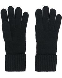 N.Peal Cashmere Cashmere Ribbed Gloves - Black