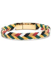 Dolce & Gabbana Bracelet à plaque logo - Vert