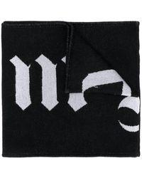 Palm Angels リバーシブル ロゴ スカーフ - ブラック