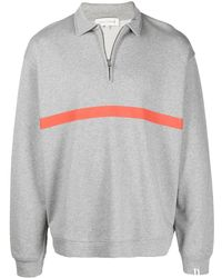 Mackintosh ストライプディテール スウェットシャツ - グレー