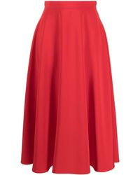 Gianluca Capannolo A-line Mid-length Skirt - Red