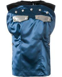 CALVIN KLEIN 205W39NYC パネルトップス - ブルー