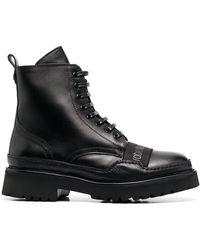 Roberto Cavalli Logo Patch Boots - Black