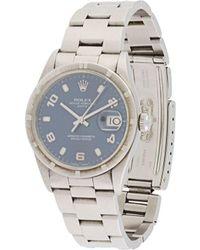Rolex Pre-owned Oyster Perpetual Date Wristwatch - Blau