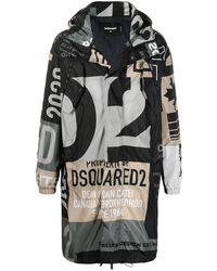 DSquared² Пальто Миди С Логотипом - Черный