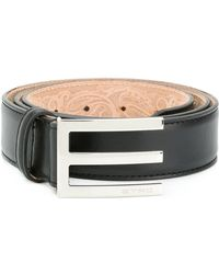 Etro - Asymmetric Buckle Belt - Lyst