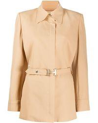 Hermès Куртка 1990-х Годов Узкого Кроя С Поясом - Естественный