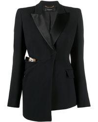 Versace - Блейзер С Заостренными Лацканами И Вырезом - Lyst