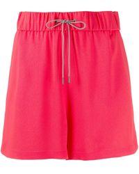 Fabiana Filippi Drawstring Shorts - Red