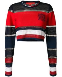 Tommy Hilfiger - Striped Cropped Jumper - Lyst