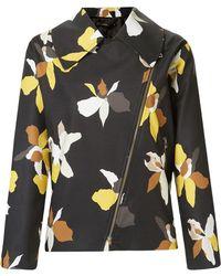 Andrea Marques - Floral Print Biker Jacket - Lyst