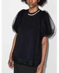 Simone Rocha レイヤード Tシャツ - ブラック