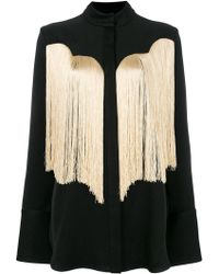 Ellery - Fringed Fitted Shirt - Lyst