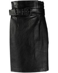 Ba&sh ハイウエスト スカート - ブラック
