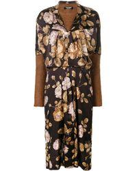 Junya Watanabe Floral Front Jersey Jumper Dress - Многоцветный