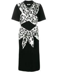 MM6 by Maison Martin Margiela ボウタイ ジャージー ドレス - ブラック