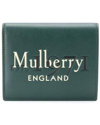 Mulberry Кошелек С Тисненым Логотипом - Зеленый