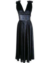 Christian Siriano Kleid mit V-Ausschnitt - Blau