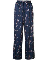 PORTSPURE 100% Drawstring-waist Trousers - Blue