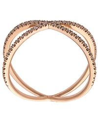 Eva Fehren 18kt Rose Gold The Fine Shorty Ring - Metallic