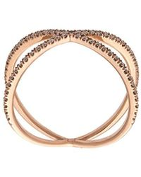 Eva Fehren The Fine Shorty Ring - Metallic