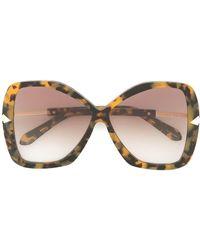 Karen Walker Occhiali da sole oversize 'Mary Crazy Tort' - Multicolore