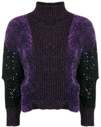 Just Cavalli - Lurex Turtleneck Jumper - Lyst
