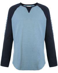 Kent & Curwen カラーブロック ロングtシャツ - ブルー