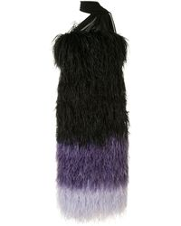 16Arlington フェザー イブニングドレス - ブラック