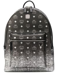 MCM Stark Gradation Visetos Backpack - Grey