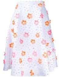Paskal - Flowers Detail Skirt - Lyst