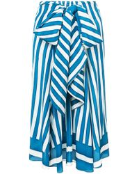 TOME - Striped Skirt - Lyst