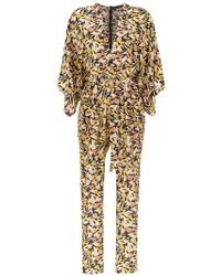 Andrea Marques - Silk Jumpsuit - Lyst