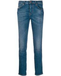 DIESEL Jeans slim con effetto schiarito - Blu