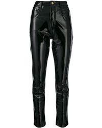 Chiara Ferragni Vinyl Skinny Pants - Black