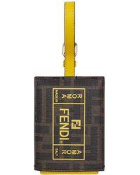 Fendi Address Card - Yellow
