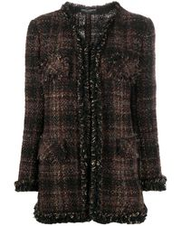 Dolce & Gabbana チェック ツイードジャケット - ブラウン