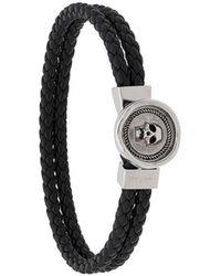 Northskull Doppeltes Armband mit Totenkopf - Schwarz