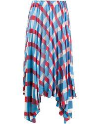 Issey Miyake - Jupe plissée à design asymétrique - Lyst