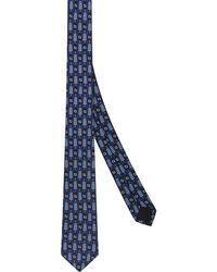 Fendi Cravatta con motivo FF - Blu