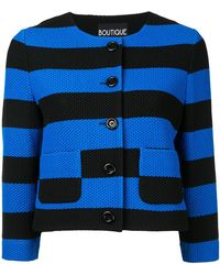 Boutique Moschino - Stripe Cropped Jacket - Lyst