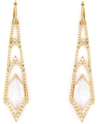 Stephen Webster - 'crystal Haze' Long Diamond Earrings - Lyst