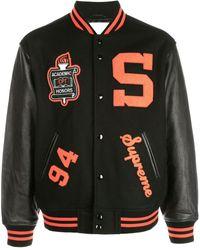 Supreme Team Varsity Jacket - Black