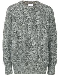 AMI Crew Neck Ribbed Sweater - グレー