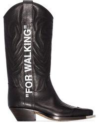 Off-White c/o Virgil Abloh Black For Walking ブーツ - ブラック