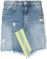 Pinko - Scotchtm Denim Mini Skirt - Lyst